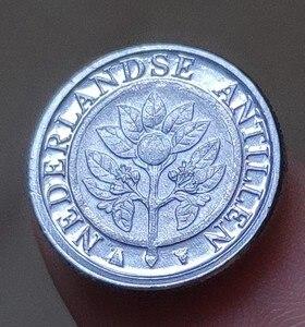 14-миллиметровая голландская антильская монета, 100% настоящая Подлинная монета, оригинальная коллекция
