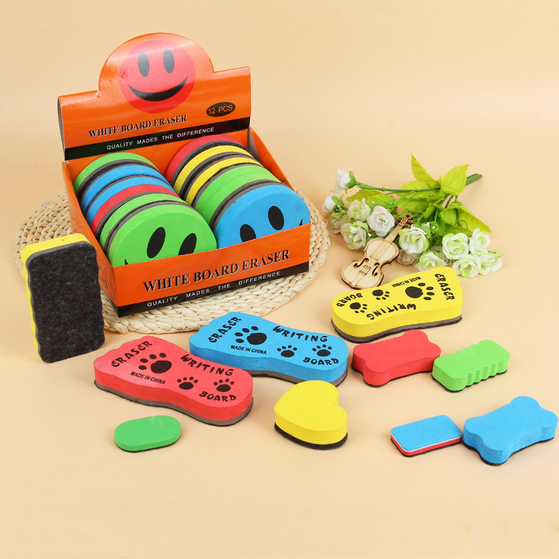 1 PCS Random Magnetic Sponge Whiteboard Eraser Kawaii Colored Marker Chalk Erasers For Erasable White Board Blackboard Cleaner