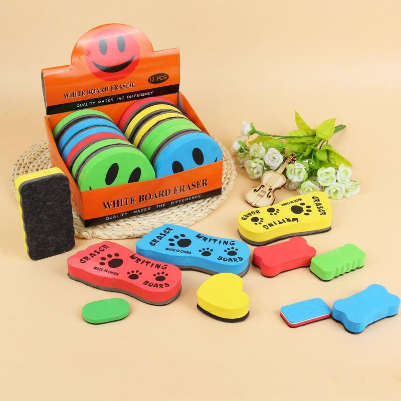 1 PCS Random Magnetic Sponge Whiteboard Eraser Kawaii Colored Marker Chalk Erasers For Erasable White Board Blackboard Cleaner