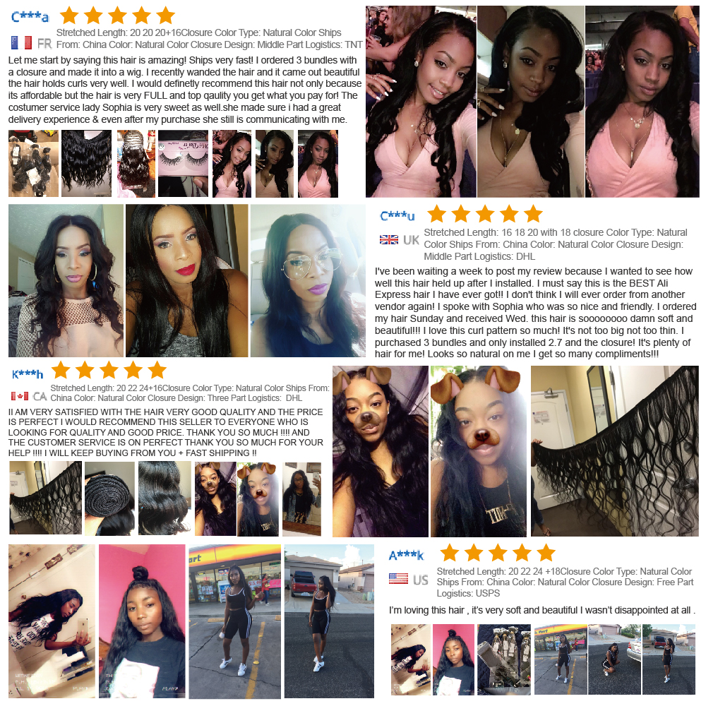 Bundles With Frontal Beaudiva Hair  Body Wave  13x4 Lace Frontal Closure with Bundles 2