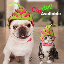 Haustier Hund Katze Nette Pet Kostüm Hut Halloween Obst Headwear Pet Kappe für Halloween Weihnachten Karneval Kostüm Party(China)