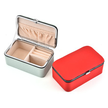 PU Leather Jewelry Storage Box Korean Style Earrings Ring Multi-function Organizer