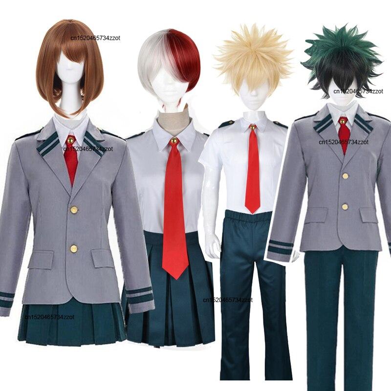 Boku nenhum herói academia asuitsuyu yaoyorozu momo escola uniforme cosplay traje meu herói academia ochaco uraraka midoriya izuku