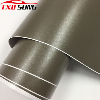 50CM*200CM/300CM Premium Leather Grain Vinyl For Car Panel Dashboard Internal DIY Wrap Decals Adhesive PVC Car Styling Sticker image