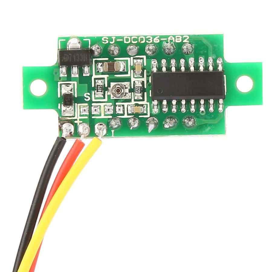 5 шт. 3 цвета 0,36 дюймовый цифровой дисплей Вольтметр постоянного тока трехпроводной светодиодный вольтметр высокого качества