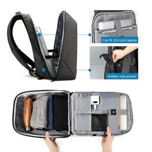 Image 2 - Tigernu anti hırsızlık laptop sırt çantası usb şarj 15.6 sırt çantaları erkekler slim su geçirmez okul çantası çantası kadın erkek mochila seyahat