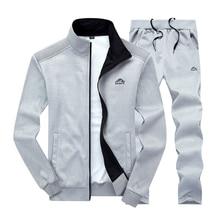 Мужской спортивный комплект, брендовый мужской спортивный костюм, спортивная одежда для фитнеса, комплект из двух предметов, куртка с длинным рукавом+ штаны, повседневный мужской спортивный костюм