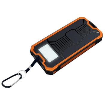 Hot Solar Panel Power Bank External Battery Dual-USB Charger Convenient Camping Lamp Waterproof Shockproof Dustproof Device 2