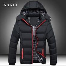 2020 casacos grossos dos homens do inverno com capuz parkas jaquetas dos homens casaco quente respirável masculino casaco masculino roupas de marca 5xl