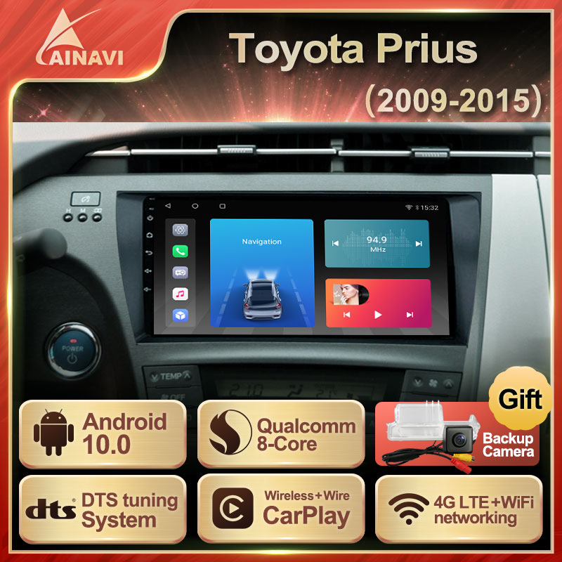 Автомобильный радиоприемник Android 10,0 QLED экран для Toyota Prius 2009-2015 авто стерео Мультимедийный видеоплеер навигация GPS Carplay No 2din