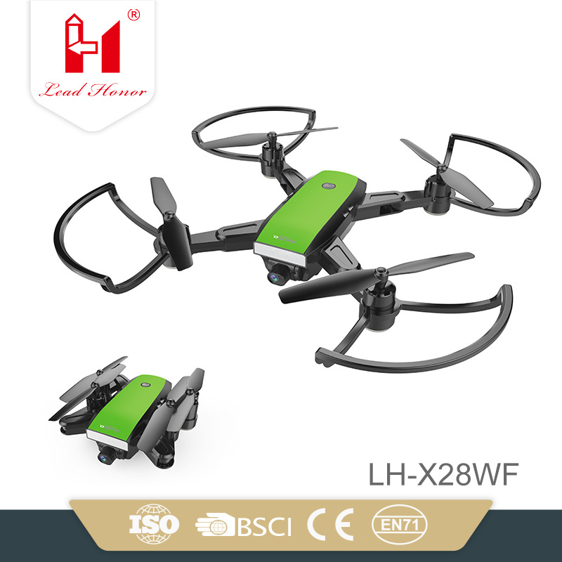Lh-x28wf30 Foldable Unmanned Aerial Vehicle Set High Aerial Photography Quadcopter WiFi Camera Real-Time Image Transmission