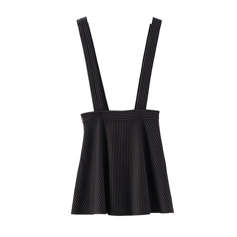Sue Series 2019 New Style High Waist Skirt Women's A- Line Skirt Slim Fit Waist Hugging Camisole Striped Skirt Q716313
