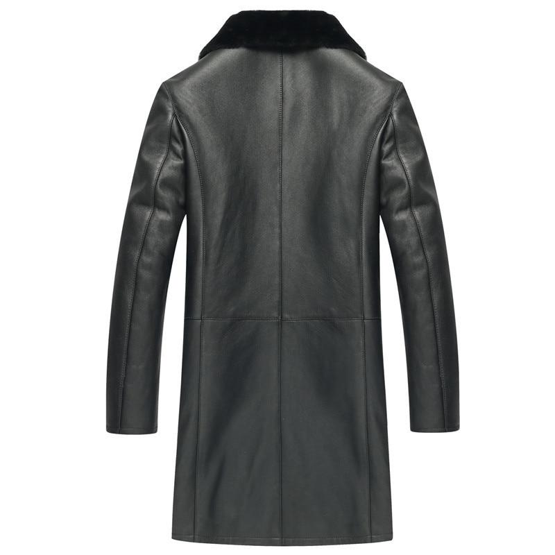 Leather Men Real Winter Jacket Men's Sheep Shearling Fur Coat Warm Wool Jackets Jaqueta De Couro 6052 YY510