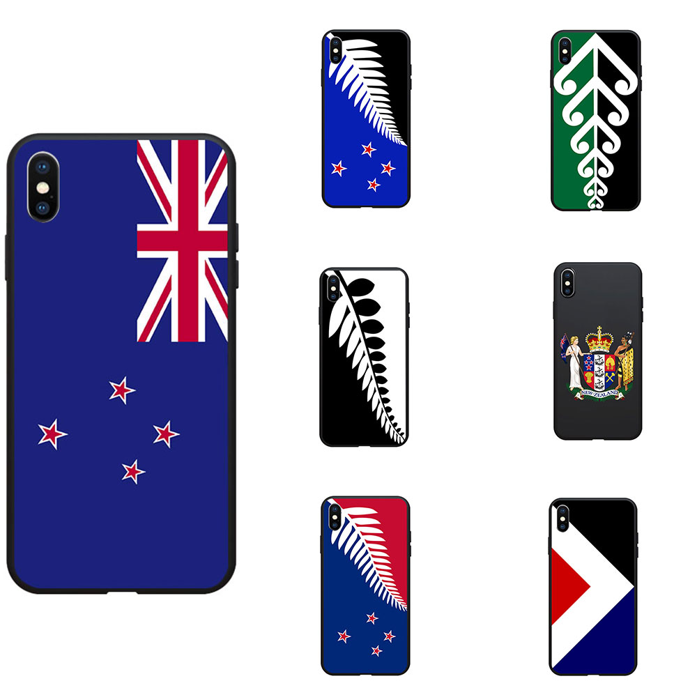 New Zealand National Flag Coat Of Arms Theme Soft TPU Phone Cases Cover Image Logo For iPhone 6 7 8 S XR X Plus 11 Pro Max image