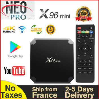 Authentic X96 mini NEOTV Smart TV Box Android 9.0 French warehouse no taxes Quad Core 2G 16G Full HD Neo tv pro 2 Set Top Box