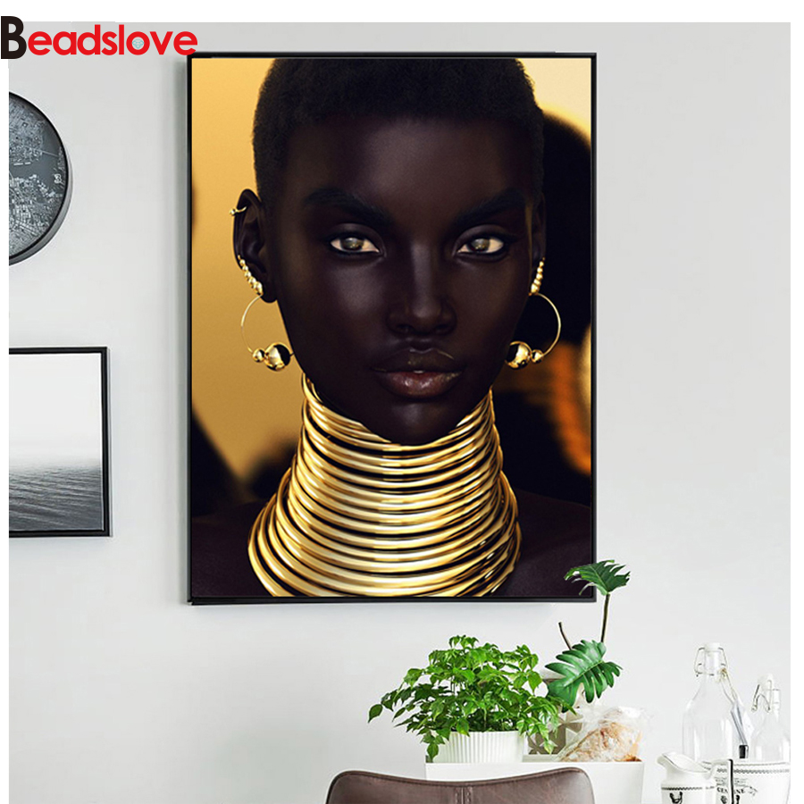 African <font><b>woman</b></font> <font><b>Sexy</b></font> 5d diy <font><b>diamond</b></font> <font><b>painting</b></font> <font><b>full</b></font> <font><b>drill</b></font> square <font><b>round</b></font> <font><b>diamond</b></font> embroidery pattern <font><b>diamond</b></font> set cross stitch mosaic image