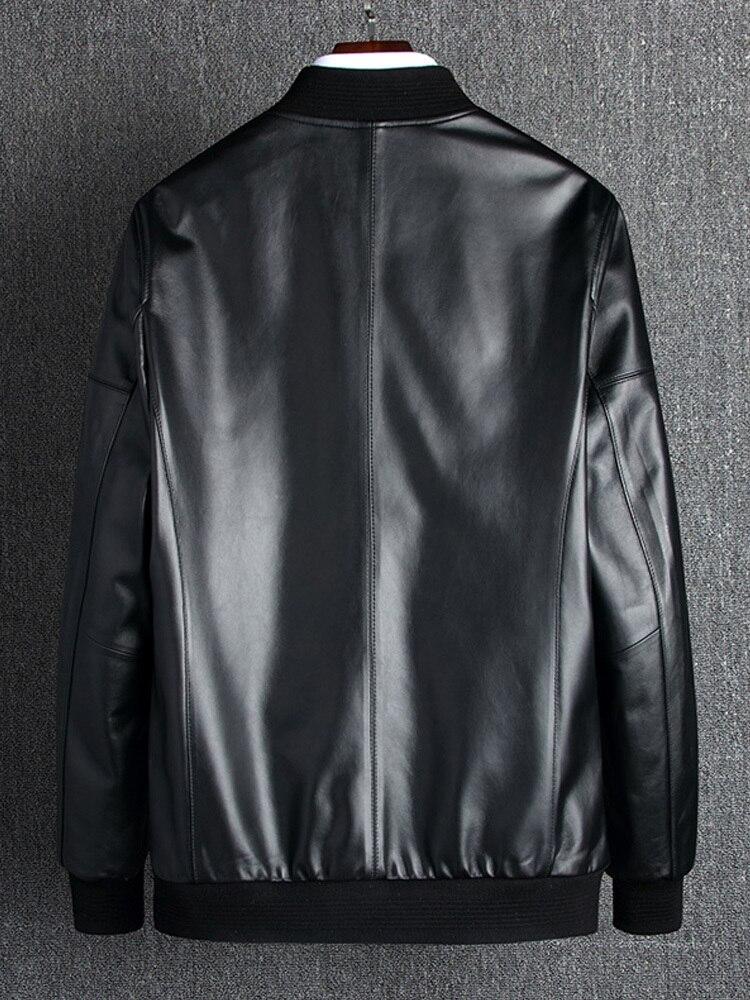 2020 Genuine Leather Jacket Men Spring Plus Size Real Sheepskin Coat For Men Bomber Jacket Leather Coats 18006 KJ2111