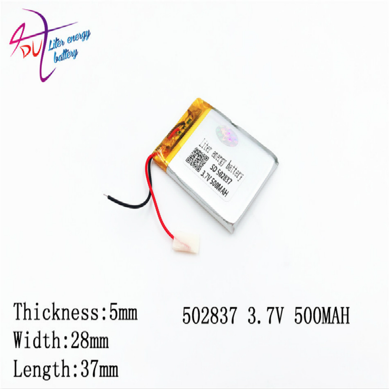 <font><b>3.7v</b></font> <font><b>500mah</b></font> 502837 <font><b>503035</b></font> Lithium Polymer Li-po Rechargeable Diy <font><b>Battery</b></font> For Mp3 Mp4 Mp5 Gps edio Game Toys image