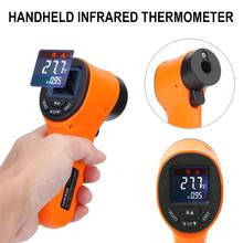 Цифровой инфракрасный термометр HW550 с ЖК-дисплеем, Бесконтактный лазерный Промышленный пирометр, пистолет для измерения температуры