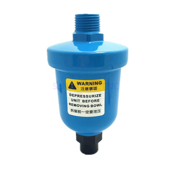 Pneumatic Air Compressor Valve Automatic Drainer Air Water Trap Aluminum Mini Cup Type Air Compressor Auto Drain pneumatic air compressor kalibr masterkb 1100m with set