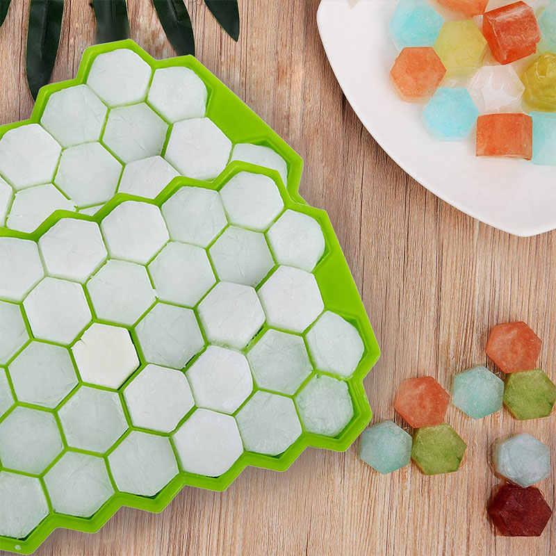 SILIKOLOVE 37 Hohlraum Ice Cube Tray Honeycomb Ice Cube Mold Food Grade Flexible Silikon Eis Formen für Whiskey Cocktail