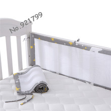 Mini Breathable Crib Bumper for Baby Care Classic Mesh Cot Liner for Unisex Toddler Safe Crib Bumpers