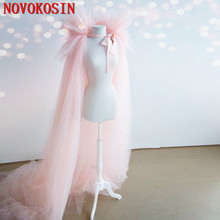 2020 New Bridal Dress Cloak Tulle Princess Proof Shawl Party Stage Catwalk Photographic Portrait Tulle Cloak 2020 new bridal dress cloak tulle princess proof shawl party stage catwalk photographic portrait tulle cloak