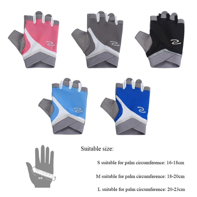 Professional Gym Gloves Women Weight Lifting Crossfit Workout Fitness Gloves Breathable Bodybuilding Half Finger Hand Protector 6