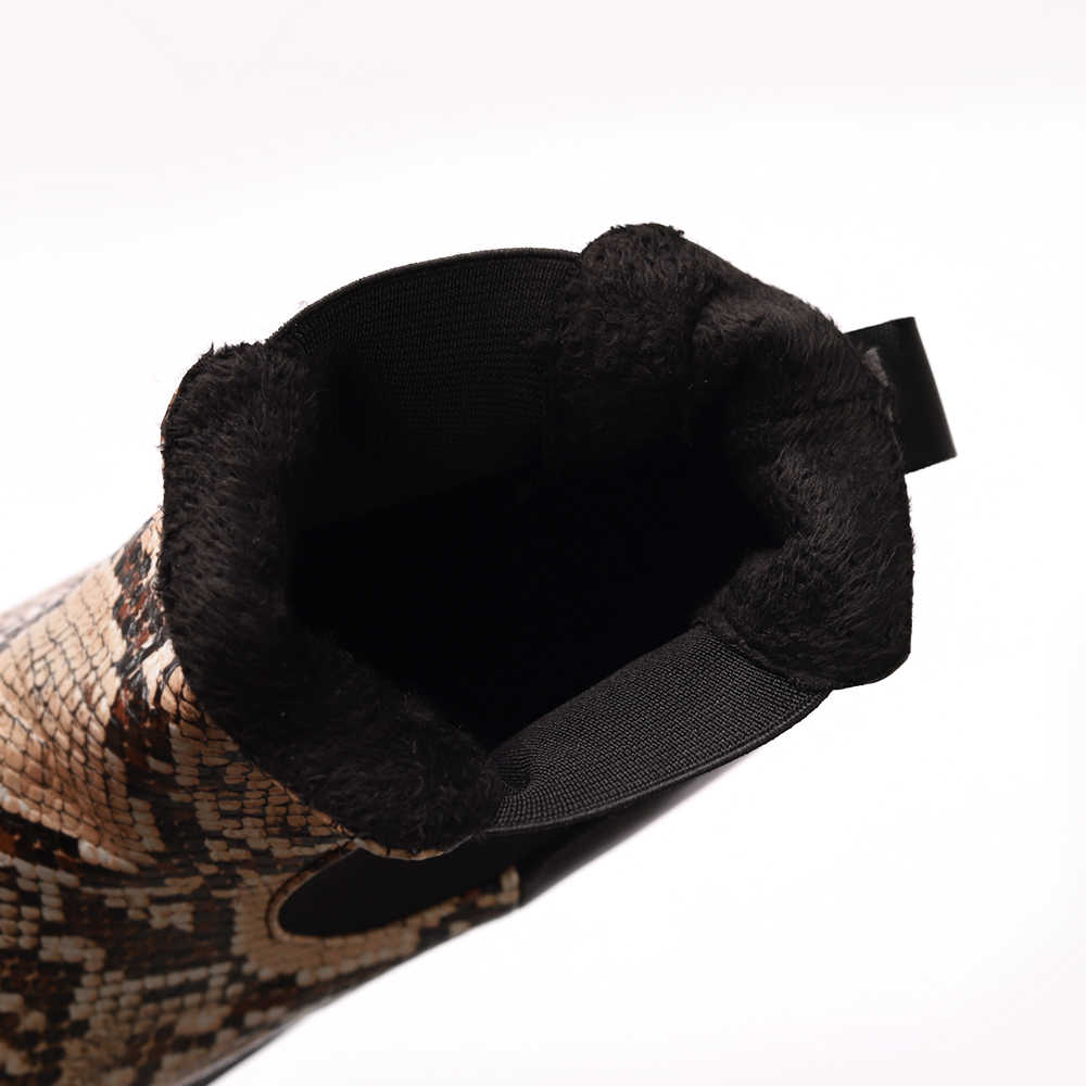 Mode Winter Chelsea Laarzen Vrouwen Enkellaars Pu Leer Spitse Neus Dames Booties Chaussures Femme Bota Mujer Grote Maat 35-43