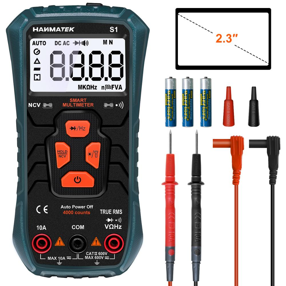HANMER Digital Multimeter, S1 Ture-RMS Automatic Ranging Multimeter Automatic Multi Tester Electrical Voltage Ammeter Ohm Tester
