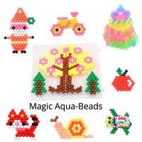 11400 pcs magic aqua bead Mega Full set+Refill bag for beginner 33 colors DIY 3d Jewel/Crystal/Solid bead kit toy for girl gift