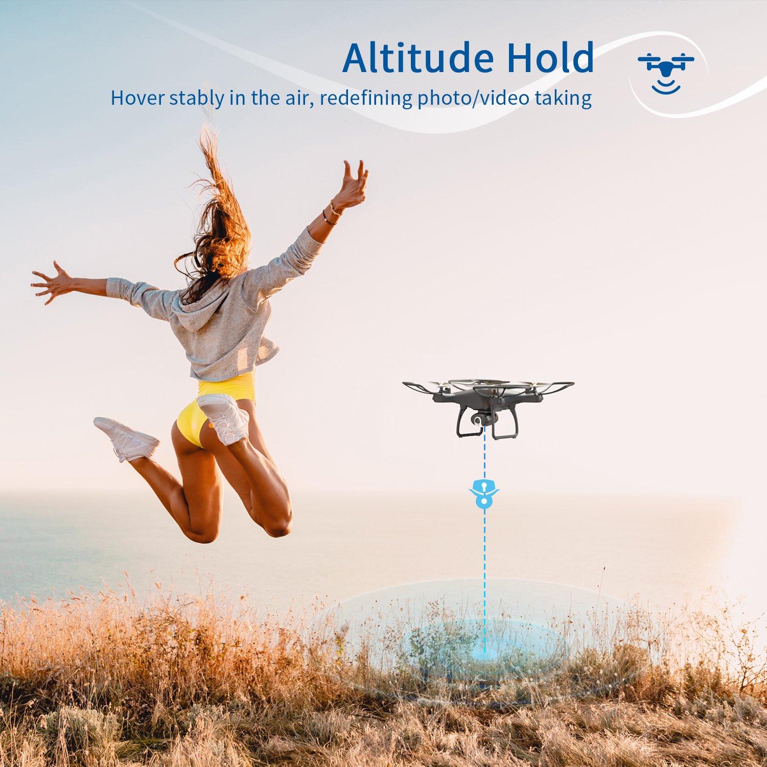 SNAPTAIN SP650 Drone 2-Axis Gimbal Camera 2K HD Video Camera Drone Voice Gesture Control Wide Angle Foldable Quadcopter RC dron 3