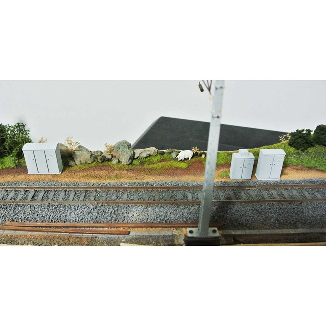 1: 87 ho escala tabela de areia trem modelo de duas portas caixa de distribuição de resina ferroviária caixa de distribuição-cinza/cinza claro