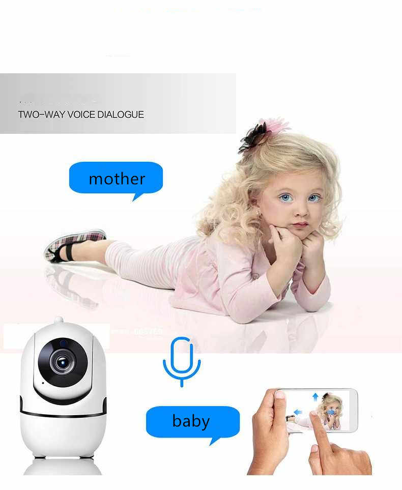Baby Monitor WiFi Baby Video Monitor Cloud Storage Mobile Phone Remote Control Two Way Audio Baby Crying Alarm Security Camera