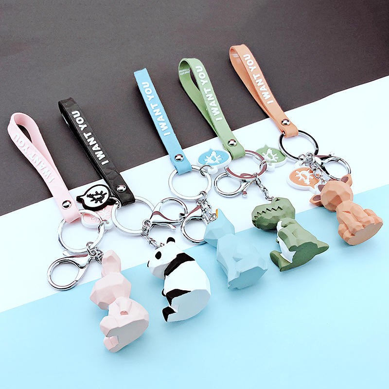 TRENDPOOL Keychain Figure-Toy Dinosaur Cartoon Cute Creative Fashion Cotton Key-Ring