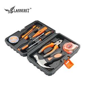 Image 4 - LANNERET 8 stücke Hand Tool Set Tool Kit mit Schraubendreher Test Bleistift Hammer Hand Werkzeuge BMC Box