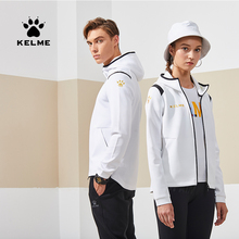 Kelme masculino jaqueta esportiva feminina maré lazer moda corrida jaqueta de treinamento outerwear 3881336