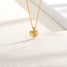 New Rose Gold Silver 100 Language I love You Necklace Memory Projection Pendant Wedding Letter Necklace Drop Shipping