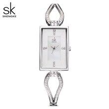 SK montre bracelet en diamant pour femmes, Top de luxe, marque carrée, élégante genève, horloge à Quartz, nouvelle mode, 2020