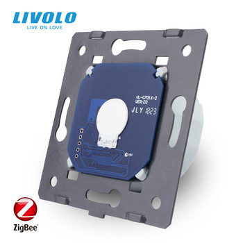 Livolo Base of Touch Screen ZigBee switch  Wall Light smart Switch, without the glass panel  , EU Standard, AC 220~250V,VL-C701Z livolo new power socket eu standard cherry wood outlet panel 2gang wall sockets with touch switch c701 21 c7c2eu 21
