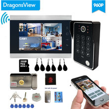 Dragonsview Nirkabel Video Pintu Telepon Wifi Smart IP Home Intercom dengan Kunci Elektronik 7 Inch AHD 960P IR LED(China)