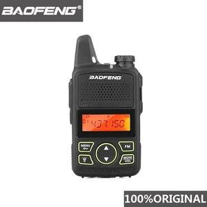 Image 1 - 100% الأصلي BAOFENG BF T1 جهاز مرسل ومستقبل صغير UHF 400 470MHz المحمولة T1 اتجاهين راديو هام راديو Amador المصغّر USB جهاز الإرسال والاستقبال