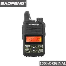 100% Original BAOFENG BF T1 MINI talkie walkie UHF 400 470MHz Portable T1 bidirectionnel Radio jambon Radio Amador Micro USB émetteur récepteur