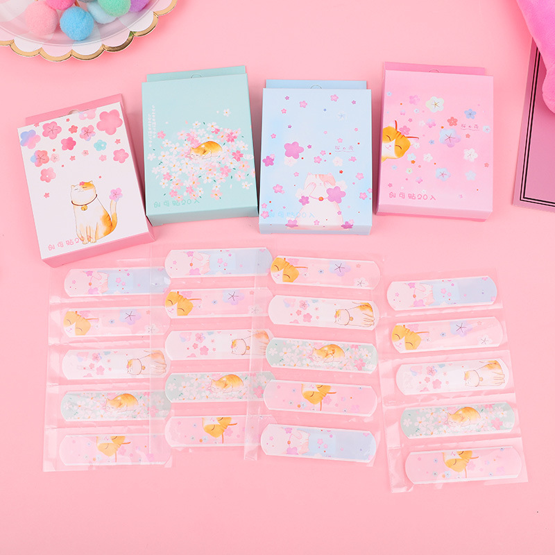 20PCs Cute Cartoon Band Aid Waterproof Breathable Adhesive Bandages First Aid Emergency Kit For Kids Children Home Outdoor Decor