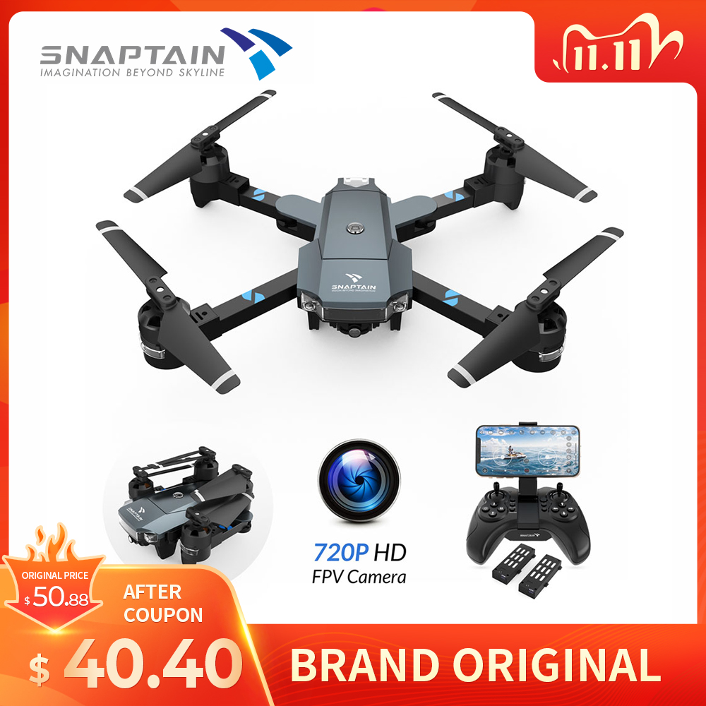 SNAPTAIN  A15H 720P HD Drone Camera Voice Control  Circle Fly Professional Quadcopter RC Drone 3D Foldable Smart Drone