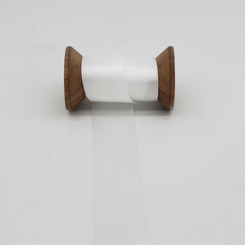 Trắng Grosgrain Ruy Băng Nơ Polyester Băng Keo DIY Phụ Kiện 3 Mm 6 Mm 9 Mm 13 Mm 16 Mm 19mm 22 Mm 25 Mm 38 Mm 50 Mm 75 Mm 100 Mm