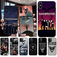 NBDRUICAI American TV series Shadowhunters Black Soft Shell Phone Case for iPhone 11 pro XS MAX 8 7 6 6S Plus X 5S SE XR case nbdruicai american tv series shadowhunters black soft shell phone case for iphone 11 pro xs max 8 7 6 6s plus x 5s se xr case