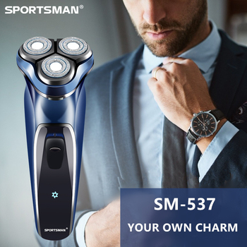 Electric shaver Type-C charging cable USB razor three heads washed shaving razor tool so white wireless 3d smart control usb charging electric razor shaver ipx7 usb charging shaving