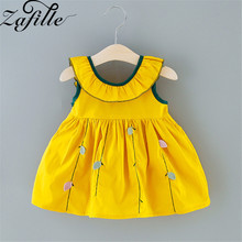 ZAFILLE Summer Dress For Girl Toddler Sleeveless Baby Girl Clothes Solid Kids Clothes Bow Girls Dress Cute Baby Girl Clothing zafille baby girls clothes soft summer dress for girl sleeveless kids clothes toddler patchwork girl dress cotton girls clothing