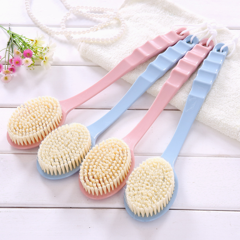 Long Handle Bath Brush Body Scrubber Massage Brush Back Rubbing Body Brush For Back Exfoliation Brushes Skin Care Accessories
